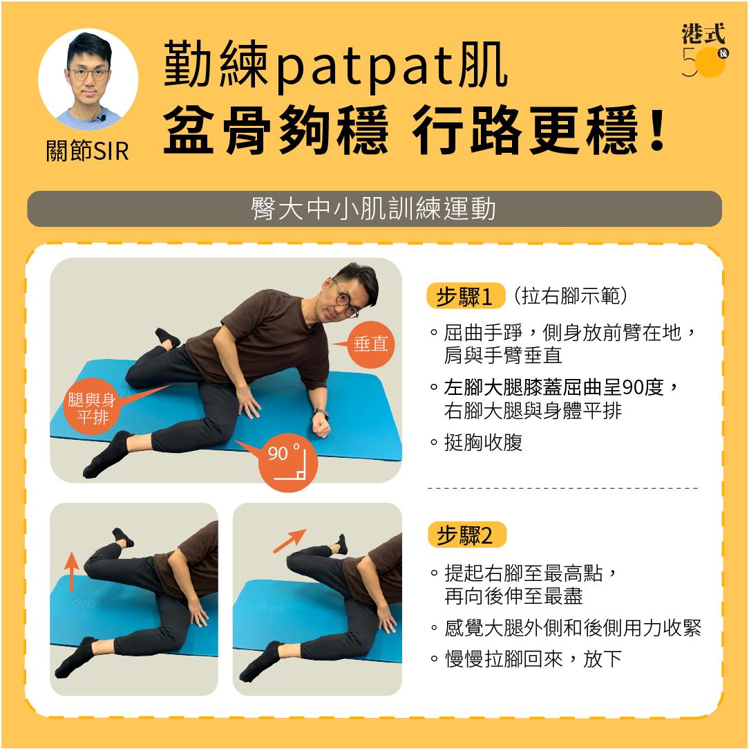 髖關節-臀大中小肌訓練運動