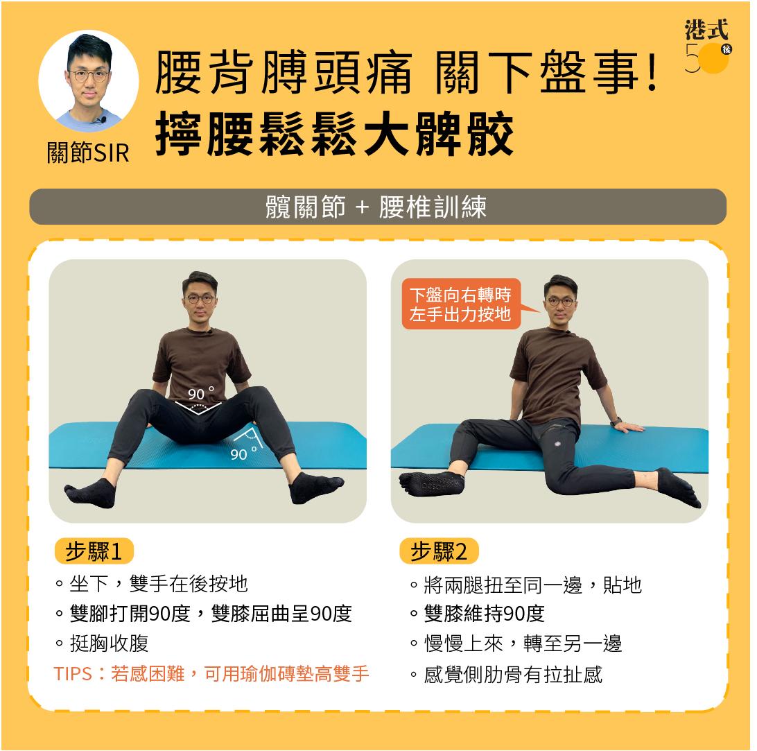 髖關節+腰椎訓練